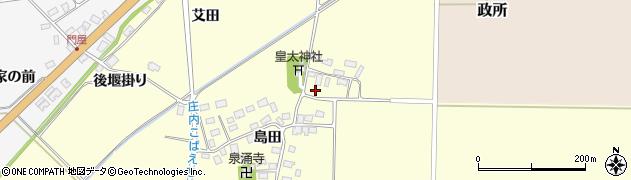山形県酒田市大島田島田28周辺の地図