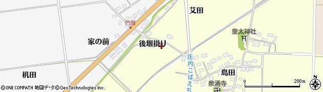 山形県酒田市大島田(後堰掛り)周辺の地図