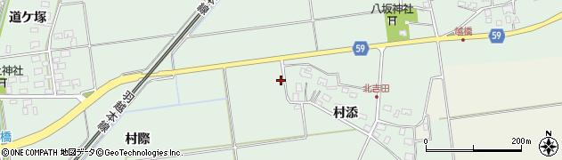 山形県酒田市保岡周辺の地図