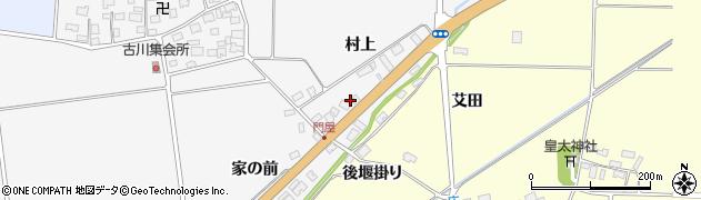 山形県酒田市刈穂周辺の地図