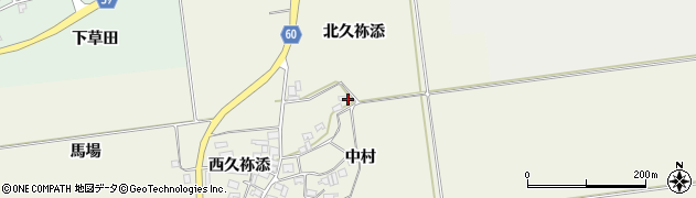 山形県酒田市庭田中村54周辺の地図