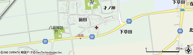 山形県酒田市保岡前田8周辺の地図