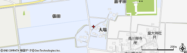 山形県酒田市城輪大場17周辺の地図