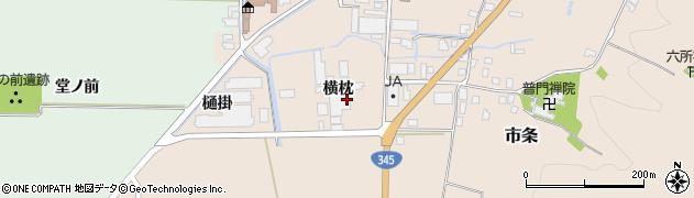 山形県酒田市市条横枕36周辺の地図