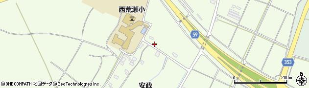山形県酒田市宮海安政周辺の地図