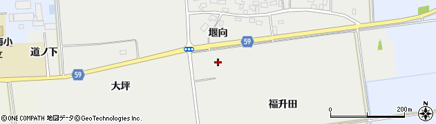 山形県酒田市豊原堰向40周辺の地図