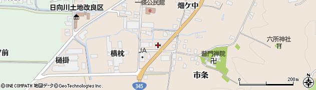 山形県酒田市市条横枕10周辺の地図