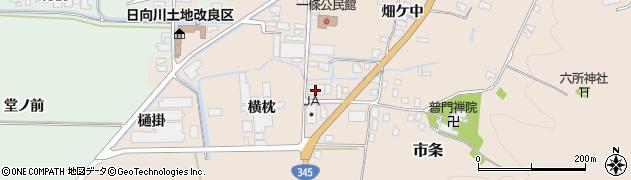 山形県酒田市市条横枕11周辺の地図