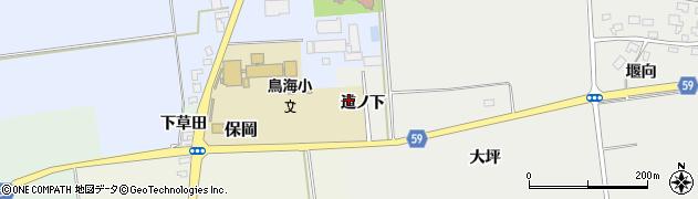 山形県酒田市豊原道ノ下周辺の地図