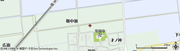 山形県酒田市保岡堰中瀬周辺の地図