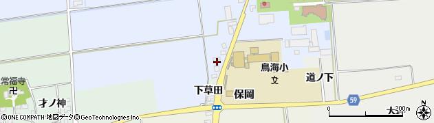 山形県酒田市本楯地正免167周辺の地図
