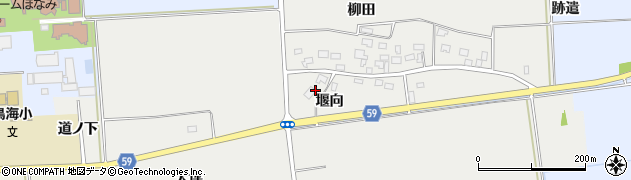 山形県酒田市豊原堰向17周辺の地図