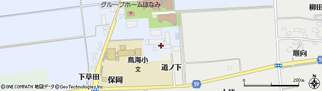 山形県酒田市本楯前田89周辺の地図
