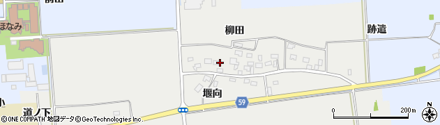 山形県酒田市豊原柳田13周辺の地図