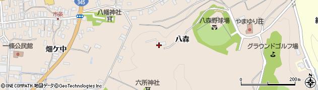 山形県酒田市市条八森308周辺の地図
