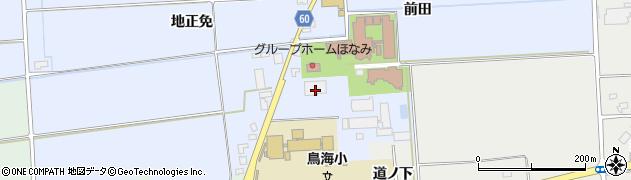 山形県酒田市本楯前田84周辺の地図