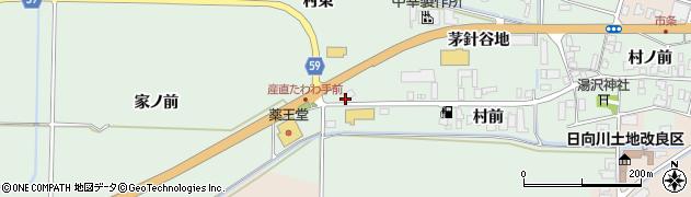 山形県酒田市法連寺茅針谷地52周辺の地図