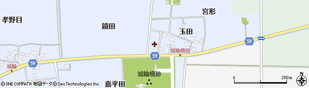 山形県酒田市城輪鏡田周辺の地図