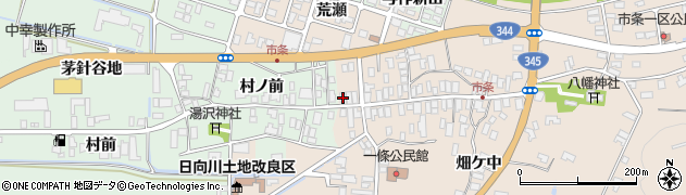 山形県酒田市市条水上43周辺の地図