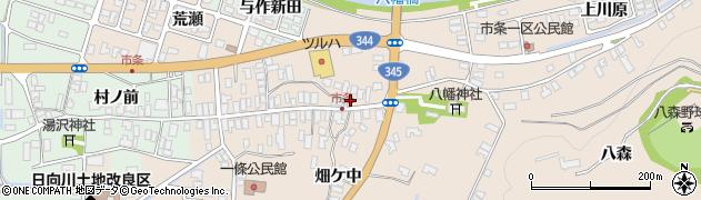 山形県酒田市市条水上61周辺の地図
