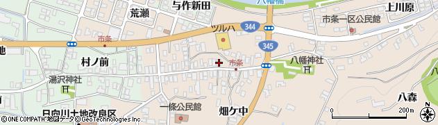 山形県酒田市市条水上57周辺の地図