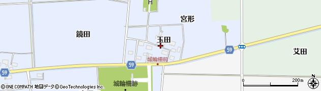 山形県酒田市城輪玉田周辺の地図