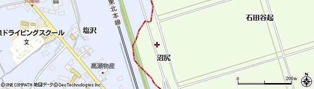 岩手県一関市川辺沼尻周辺の地図