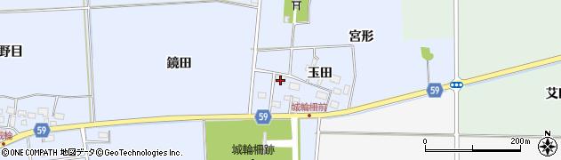 山形県酒田市城輪玉田58周辺の地図