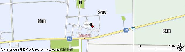 山形県酒田市城輪玉田41周辺の地図