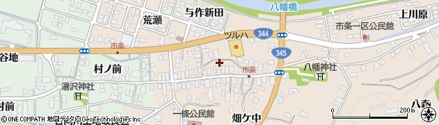 山形県酒田市市条水上55周辺の地図