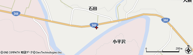 山形県酒田市大蕨(石田前)周辺の地図