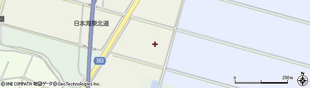 山形県酒田市穂積角沼周辺の地図