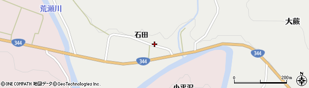 山形県酒田市大蕨石田20周辺の地図