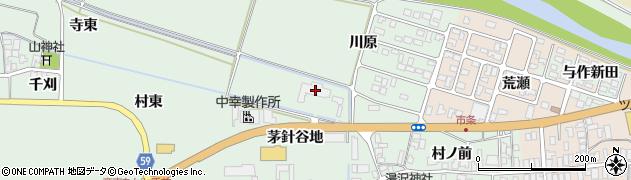 山形県酒田市法連寺茅針谷地84周辺の地図