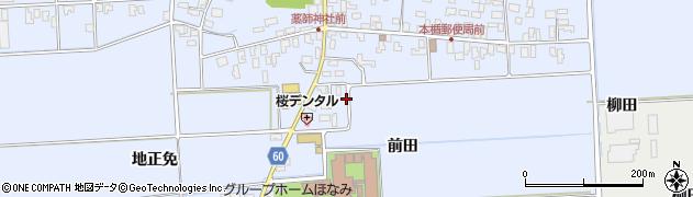 山形県酒田市本楯前田49周辺の地図