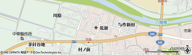山形県酒田市市条荒瀬90周辺の地図