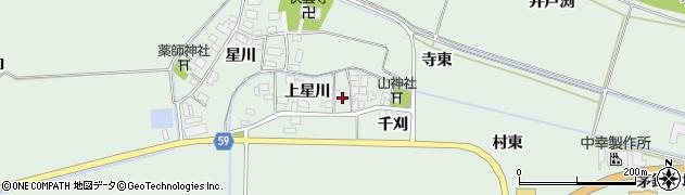山形県酒田市大豊田上星川32周辺の地図