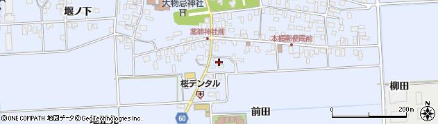 山形県酒田市本楯前田41周辺の地図
