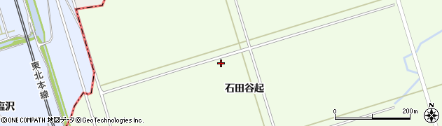 岩手県一関市川辺石田谷起周辺の地図