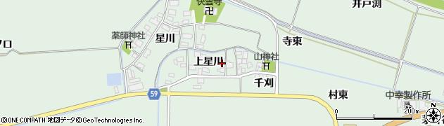 山形県酒田市大豊田上星川35周辺の地図