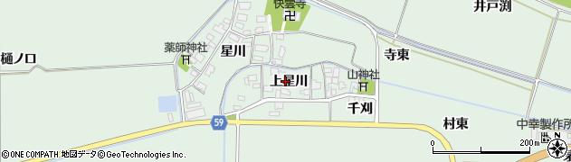 山形県酒田市大豊田上星川47周辺の地図