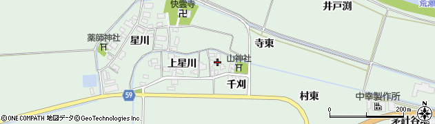 山形県酒田市大豊田上星川31周辺の地図