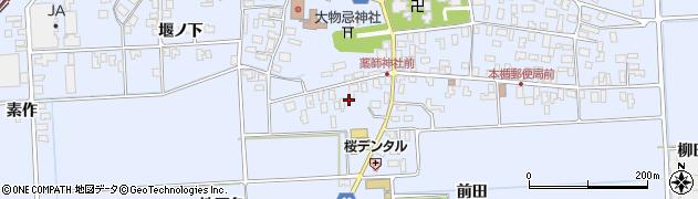 山形県酒田市本楯地正免34周辺の地図