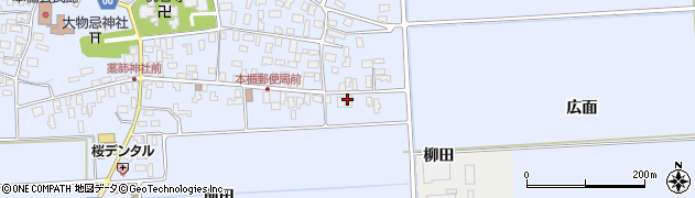 山形県酒田市本楯広面13周辺の地図