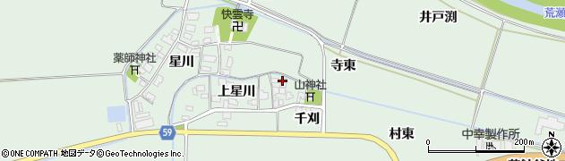 山形県酒田市大豊田上星川29周辺の地図