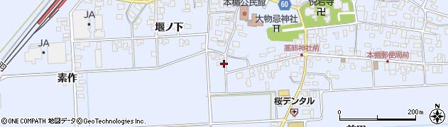 山形県酒田市本楯地正免53周辺の地図