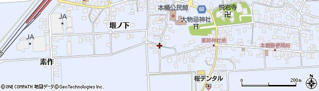 山形県酒田市本楯地正免52周辺の地図