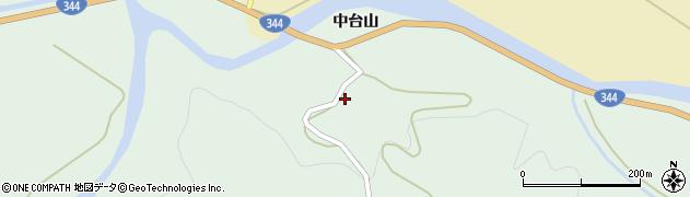 山形県酒田市上青沢中台山周辺の地図