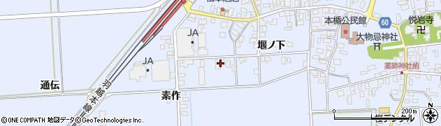 山形県酒田市本楯通伝43周辺の地図