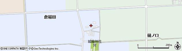 山形県酒田市城輪倉稲田7周辺の地図